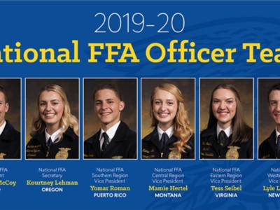 2019-20 National FFA Officer Team Elected at the 92nd National FFA Convention & Expo