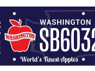 Apple License Plate Bill Passes