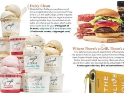 "Oprah Magazine September ""O List""  Features Snake River Farms Gourmet Hamburger Collection"