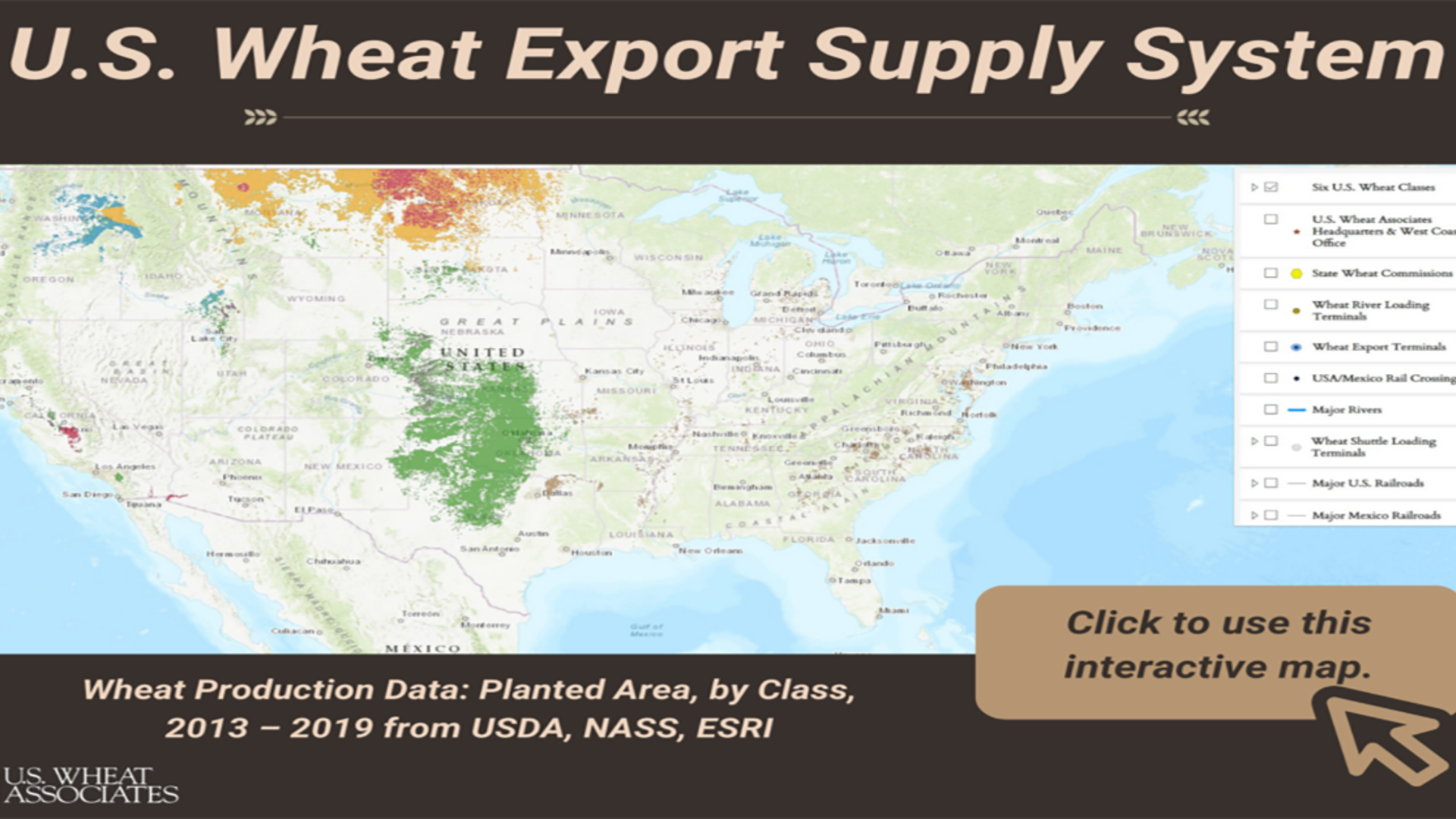 U.S. Wheat Associates Launches Interactive Wheat Export Supply System Map